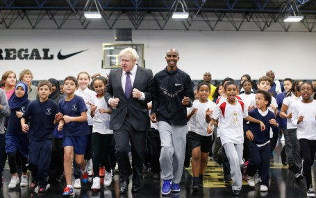 The Olympic Legacy: Boris Johnson and Mo Farah are spearheading a new campaign to get children more active. They want to see 2 hours of sport in schools EVERY DAY!